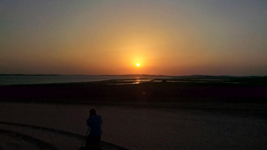 Sonnenuntergang Inland Sea Katar