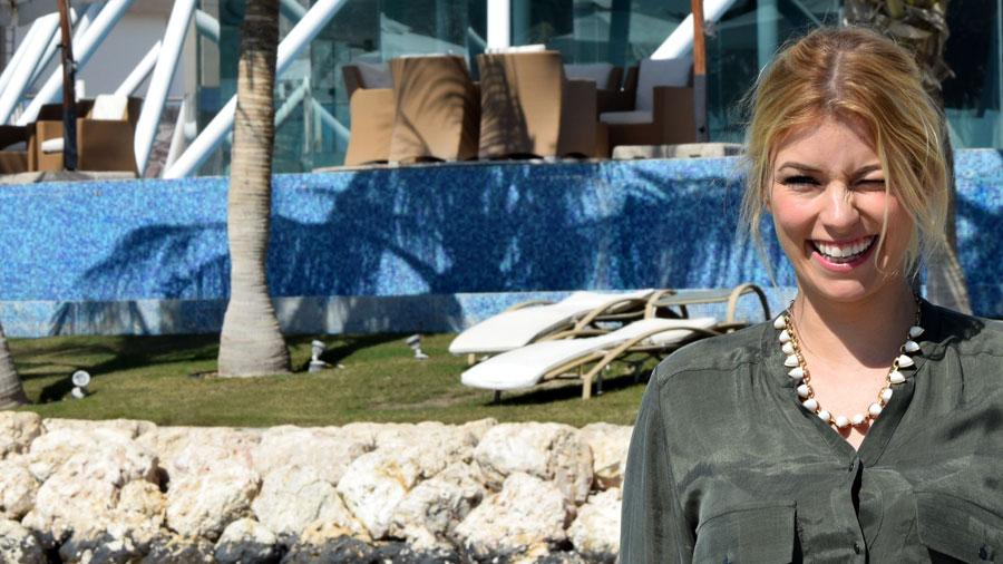 Annica Hansen in Katar