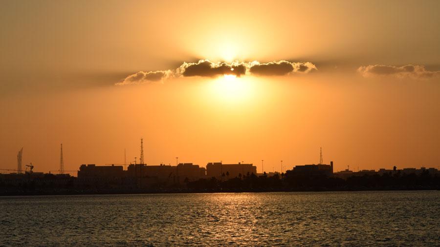 Sonnenuntergang über Doha